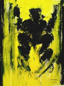 Shadow Jumper (yellow), 2007 Acrylic on canvas61.75 x 45.875 inches; 156.8 x 116.5 cmSigned and dated lower rightSOLD