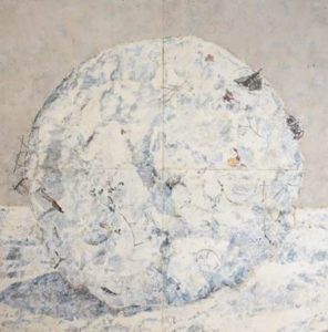 Snow Ball, 2010 Mixed pigments on gessoed tarpaper 71 x 71 inches; 180.3 x 180.3 cm