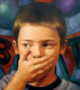 Speak No Evil, 2012 Oil on canvas 54 x 48 inches; 137.2 x 121.9 cm