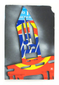 Stikman Tide, 2009 Paint on printed cardboard  16.75 x 11 inches; 42.5 x 28 cm