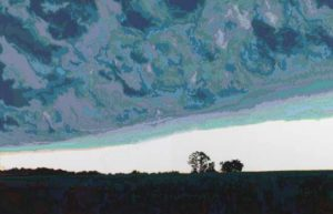 Storm Clouds, 2003 Hand-cut Coloraid paper on archival paper Image: 19.4 x 30 inches; 49.2 x 76.2 cm Framed: 28.6 x 39.4 inches; 72.7 x 100 cm
