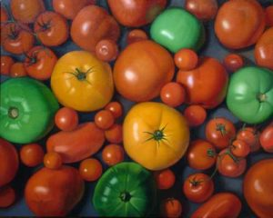 Tomatoes, 2005 Oil on canvas 24 x 30 inches; 61 x 76.2 cm