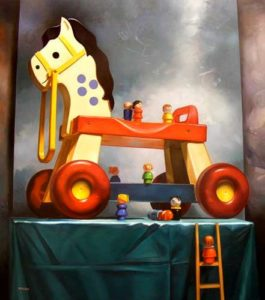 Trojan Horse, 2010 Oil on canvas 72 x 64 inches; 182.9 x 162.6 cm