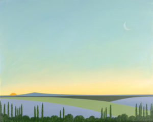 Twilight In Provence, 2015 Mixed media on canvas 25.68 x 31.88 inches;  65.21 x 80.96 cm Signed and Dated LL