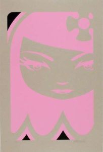 Ghost Girl, 2008 Unique screenprint on brown acid-free paper 44 x 30 inches; 111.8 x 76.2 cm Signed and dated lower right