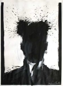 Shadow Head Portait, 2005 Acrylic on paper24 x 18 inches; 61 x 45.7 cm Signed and dated lower rightNot for Sale WGRH1023