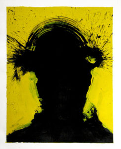 Shadow Head Portrait, 1998 Acrylic on paper13.75 x 20 inches; 34.9 x 50.8 cm Signed and dated lower right WGRH1037