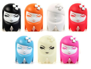 Matt Siren Ghost Girl, 2010 Suite of seven vinyl sculptures 6.25 x 4.25 x 4.25 inches Signed, limited edition  SOLD
