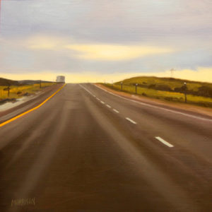 Wyoming, 2015 Oil on wood  12 x 12 inches; 30.5 x 30.5 cm