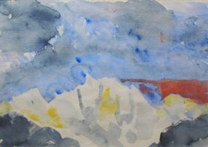 Mountain Rhythm #8, 2000 Watercolor on paper 13 x 18 inches; 33 x 45.7 cm