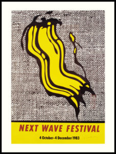Next Wave Festival, 1983 Lithograph on paper Paper size: 36 x 24 inches;  91.4 x 61 cm Frame size: 40.5 x 34.5 inches;  102.9 x 87.6 cm Signed lower right