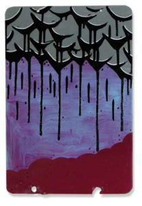 Grape, 2008 Enamel on metal sign 18 x 12 inches; 45.7 x 30.5 cm