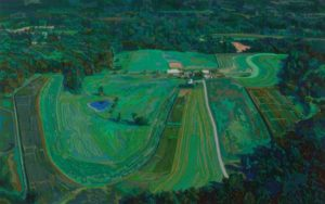 Farm from a Helicopter, 2005 Hand-cut Coloraid paper on archival paper 17 x 28 inches; 43.2 x 71.1 cm