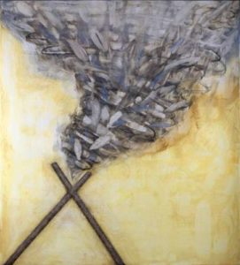 For Those Flirting with Danger, 2008 Oil on wood panel 40 x 36 inches; 101.6 x 91.4 cm