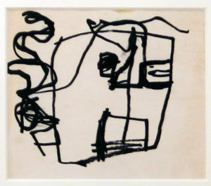 Study of a Head, 1947-49 Ink on 100% cotton paper Paper size: 8.5 x 10 inches;  21.6 x 25.4 cm Frame size: 22 x 25.5 inches;  55.9 x 64.8 cm Signed
