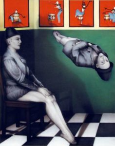 Levitation Hat Painting, 1997 73 x 60 inches; 185.4 x 152.4 cm Acrylic on canvas Framed