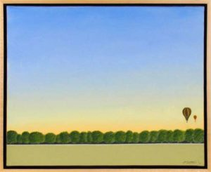 Montgolfiere, 2012 Acrylic on canvas 23.5 x 29.5 inches; 59.7 x 74.9 cm Signed and dated lower right Framed  SOLD