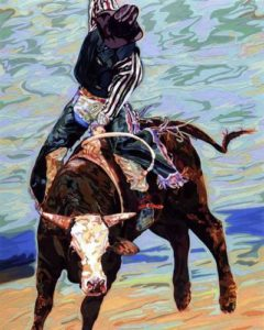 Rodeo, 1999 Hand-cut Coloraid paper on archival paper Image: 30 1/8 x 24 1/8 inches;  76.5 x 61.3 cm Framed: 38 1/4 x 33 1/4 inches;  96.5 x 84.5 cm