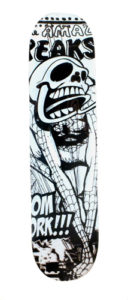 Matt Siren Untitled, 2011 Acrylic on skateboard 33 x 7.5 inches