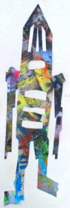 Untitled Figure 12, 2005 Mixed media, collage on paper 22.88 x 6.63 inches; 58.11 x 16.84 cm