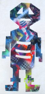 Untitled Figure 6, 2005 Mixed media, collage on paper 21.69 x 9.19 inches; 55.09 x 23.34 cm
