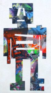 Untitled Figure 7, 2005 Mixed media, collage on paper 21.94 x 10.69 inches; 55.88 x 27.15 cm