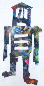 Untitled Figure 8, 2005 Mixed media, collage on paper 22 x 10.69 inches; 55.88 x 27.15 cm