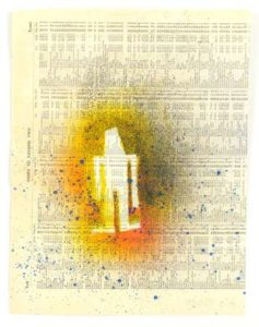 Index Volume Two, 2009 Paint on printed paper 12 x 9 inches; 30.5 x 22.8 cm