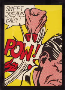 Sweet Dreams Baby for 11 Pop Artists exhibition, 1969 Screen print on paper Paper size: 23 x 16.25 inches;  58.4 x 41.3 cm Frame size: 24 x 17.25 inches;  61 x 41.8 cm