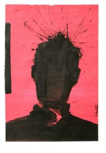 Shadow Head Portait Acrylic on paper24 x 16 inches; 61 x 40.6 cm Signed lower right WGRH1020