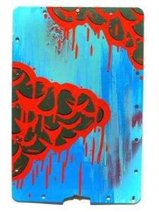 Vermillion Army, 2008  Enamel on metal sign 18 x 12 inches; 45.7 x 30.5 Signed